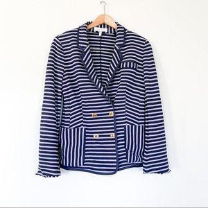 ESCADA Stripe Blazer Jacket 40 (US: 8/M)